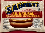 2 (8 packs) Sabrett All Natural Skinless Uncured Beef Frankfurters - 16 Hot dogs total (28oz)