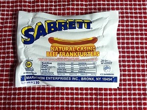 2 (6 packs) Sabrett Natural Casing Hot Dogs- 12 hot dogs Total
